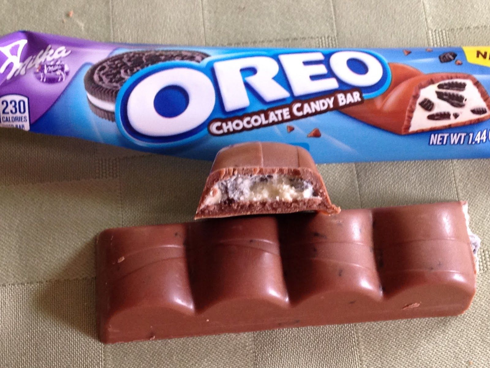 Unwrapped Milka Oreo Chocolate Candy Bar National Oreo Day Is