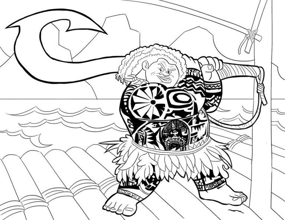 Maui personaje de poelicula de Moana de Disney   Imagen para ...