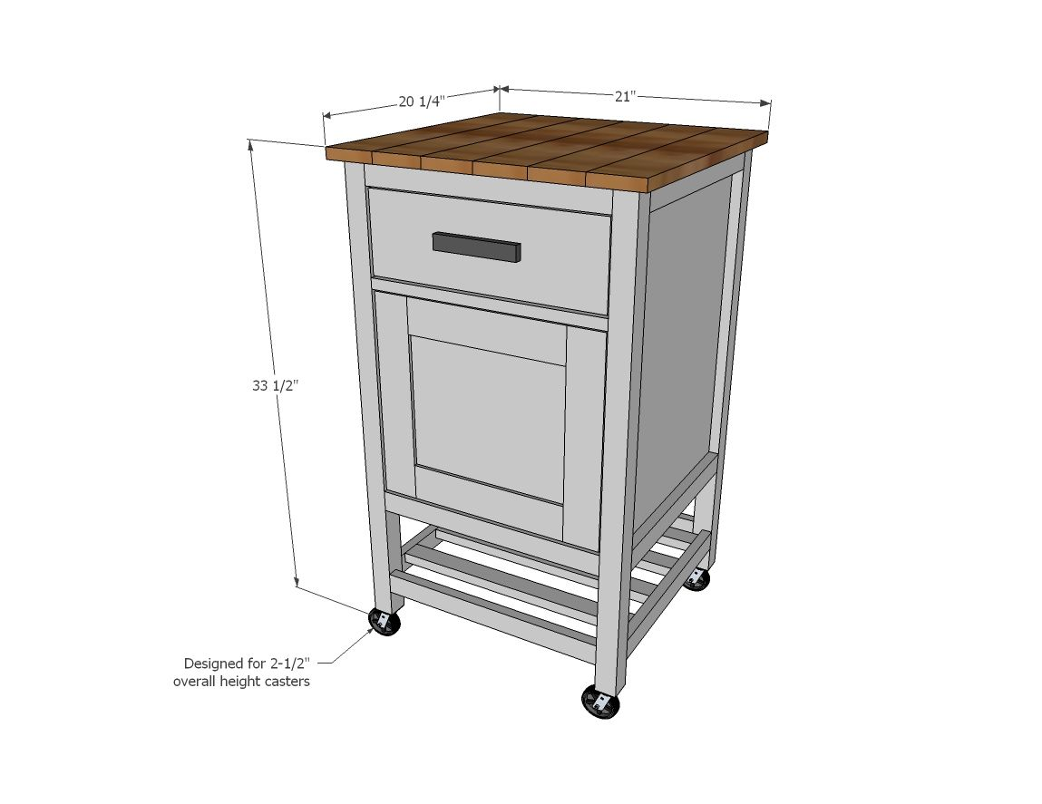 Kitchen Prep Cart Chandelier Lighting Ana White Build A How To Small Island With Compost Free And Easy Diy Project Furniture Plans