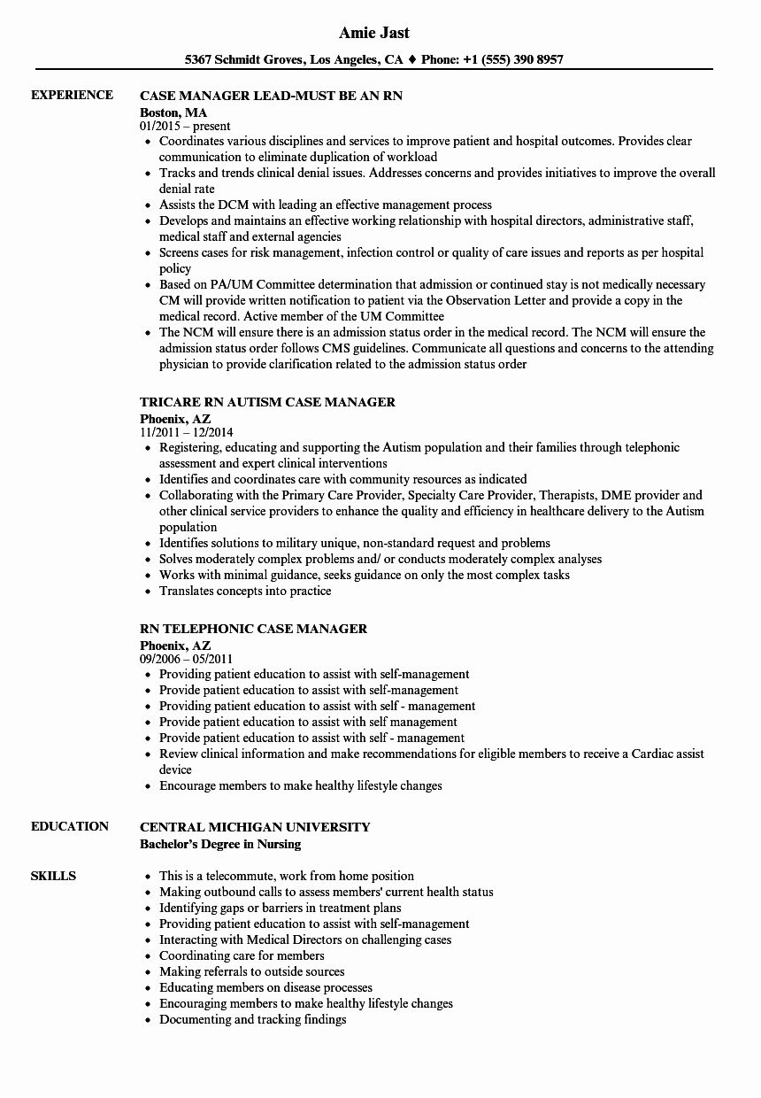23 Case Manager Resume Examples in 2020 Case management