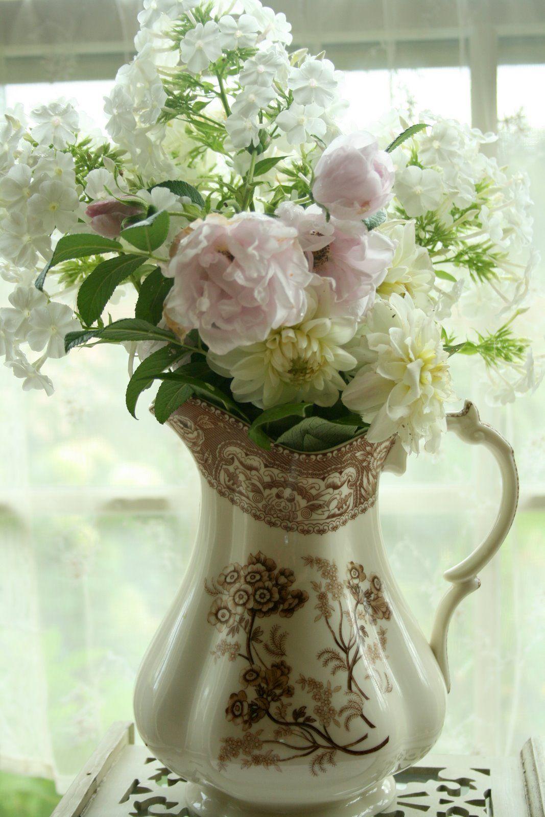 Brown And White Transferware Bouquet Evas Nest Pinterest