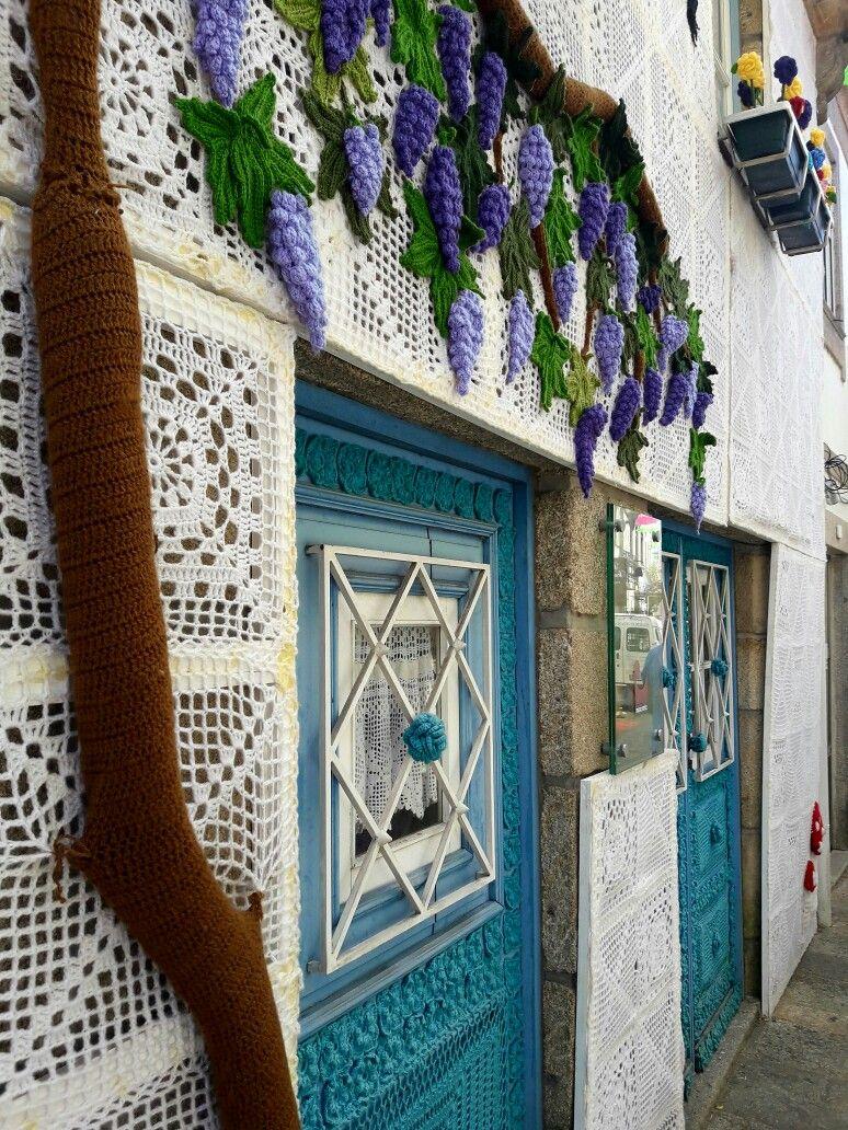 Casa Revestida En Crochet En Vilanova Da Cerveira Portugal