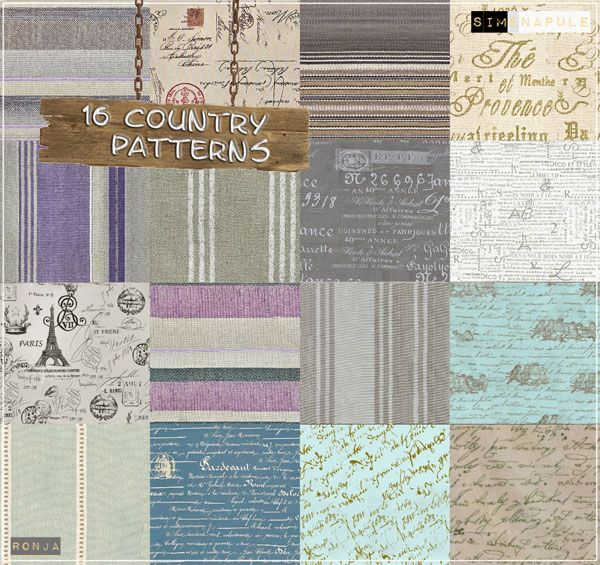 Country Pack 16 Patterns By Ronja Sims 3 S Cc Caboodle Tumblr Free