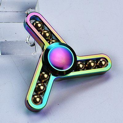 Metal Fid Spinner Rainbow Handspinner Tri Spinner Hand spinner