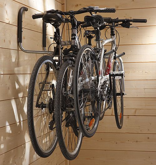 2 X Bike Car Roof Top Box Storage Hooks At STORE Set Of Wall Mounted Swivelling That Fold Flat Against The When Not