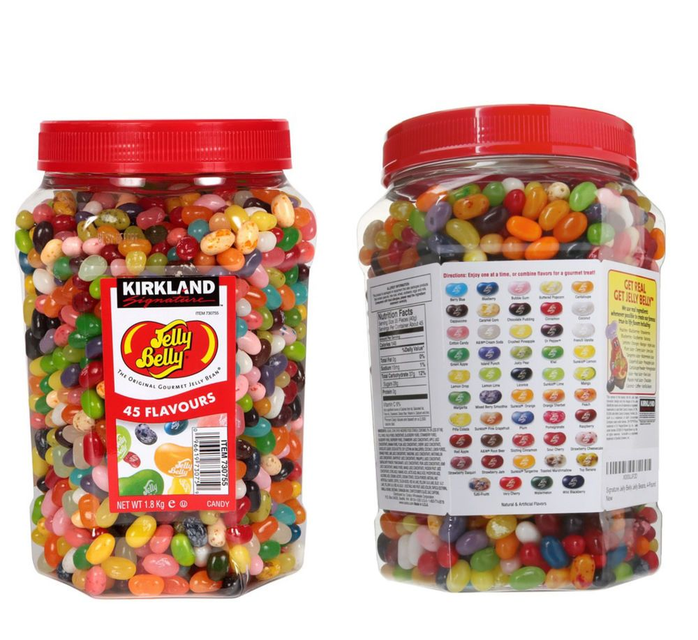 Jelly Belly Gourmet Jelly Beans Sweets 44 Flavours Big Jar 18kg
