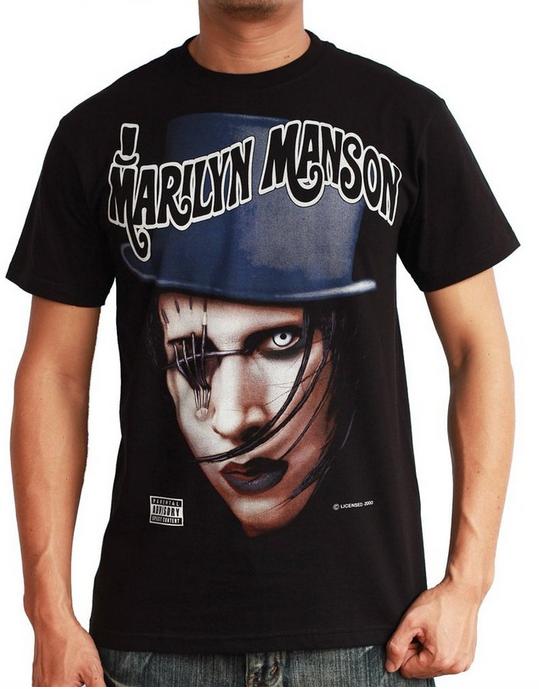 af428194e652 $19 - Vintage Marilyn Manson Eye Patch T-Shirt - www.vintagemmshop.com