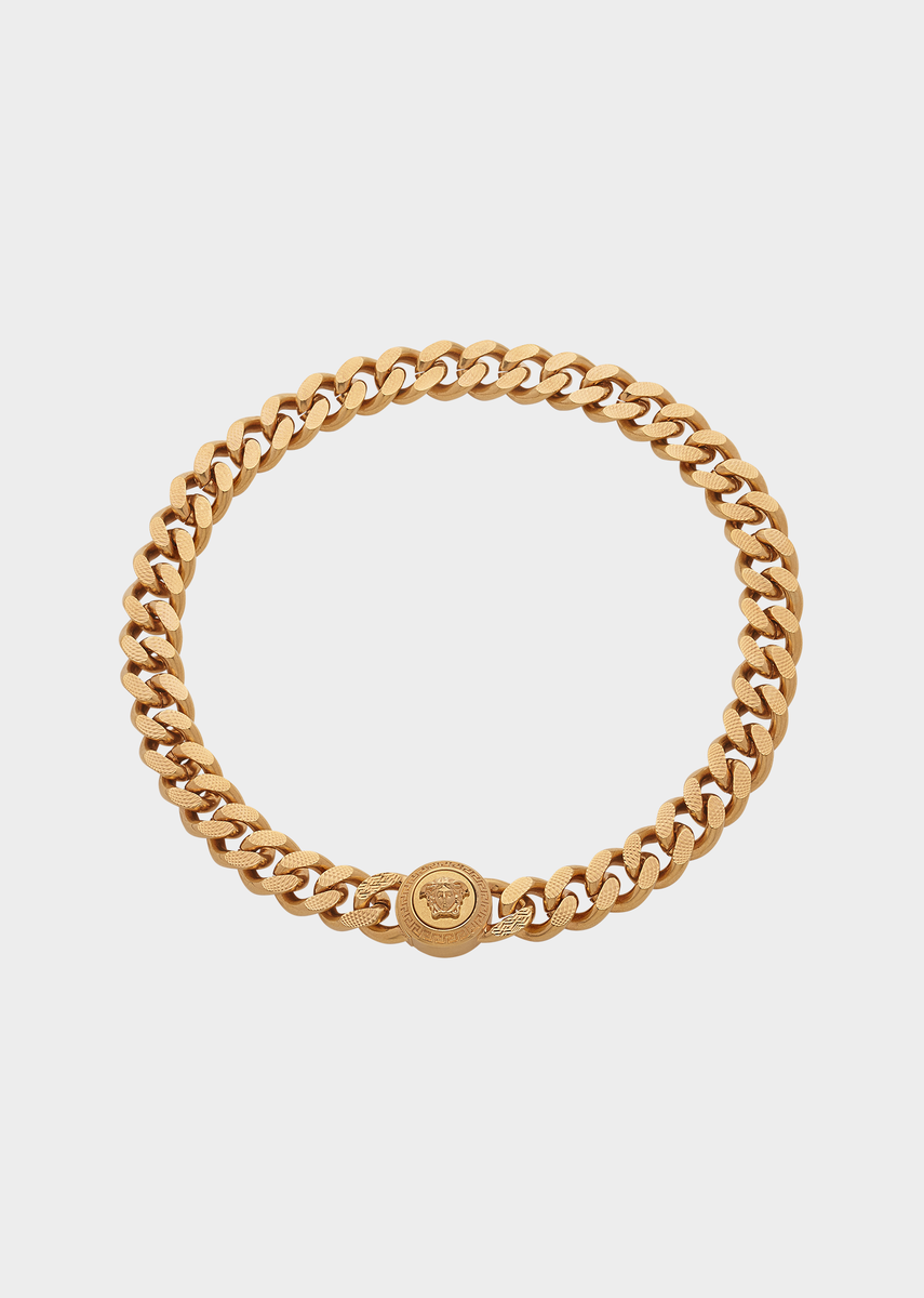 Versace chain medusa necklace for men us online store gold