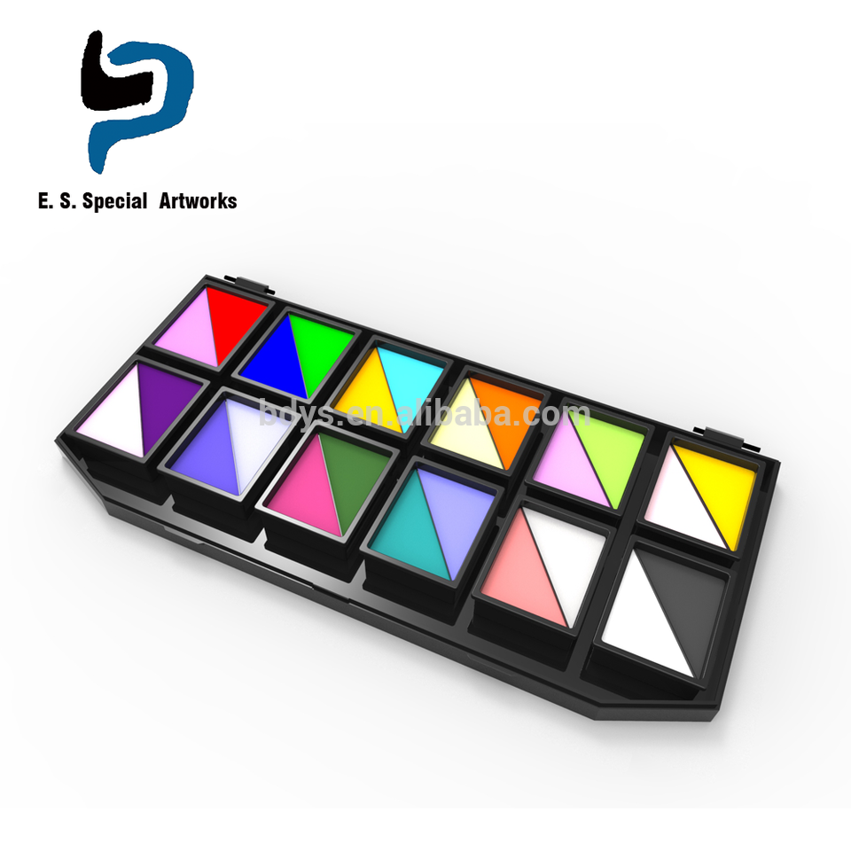Professional private label waterbased 24 colors face paint palette