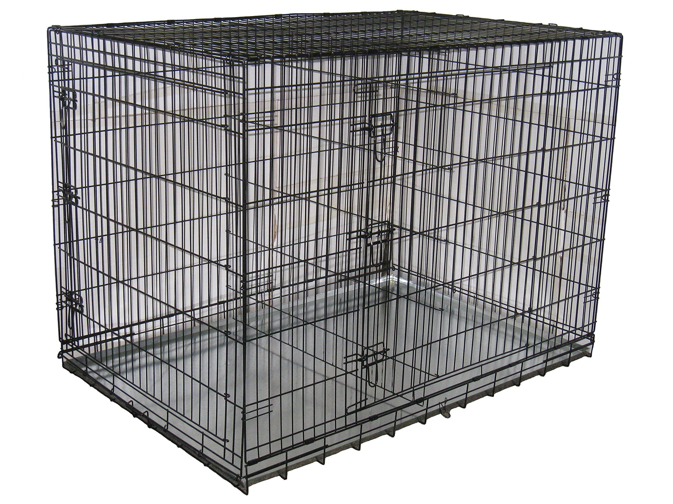 folding wire dog crate with divider xx large 54 l x 37 w x 39 h
