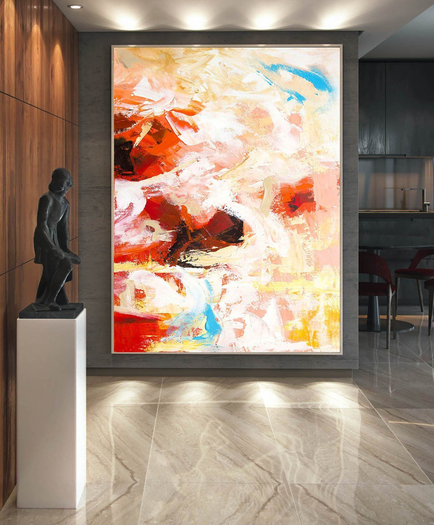 Extra Large Wall Art Abstract Painting On Canvas Contemporary