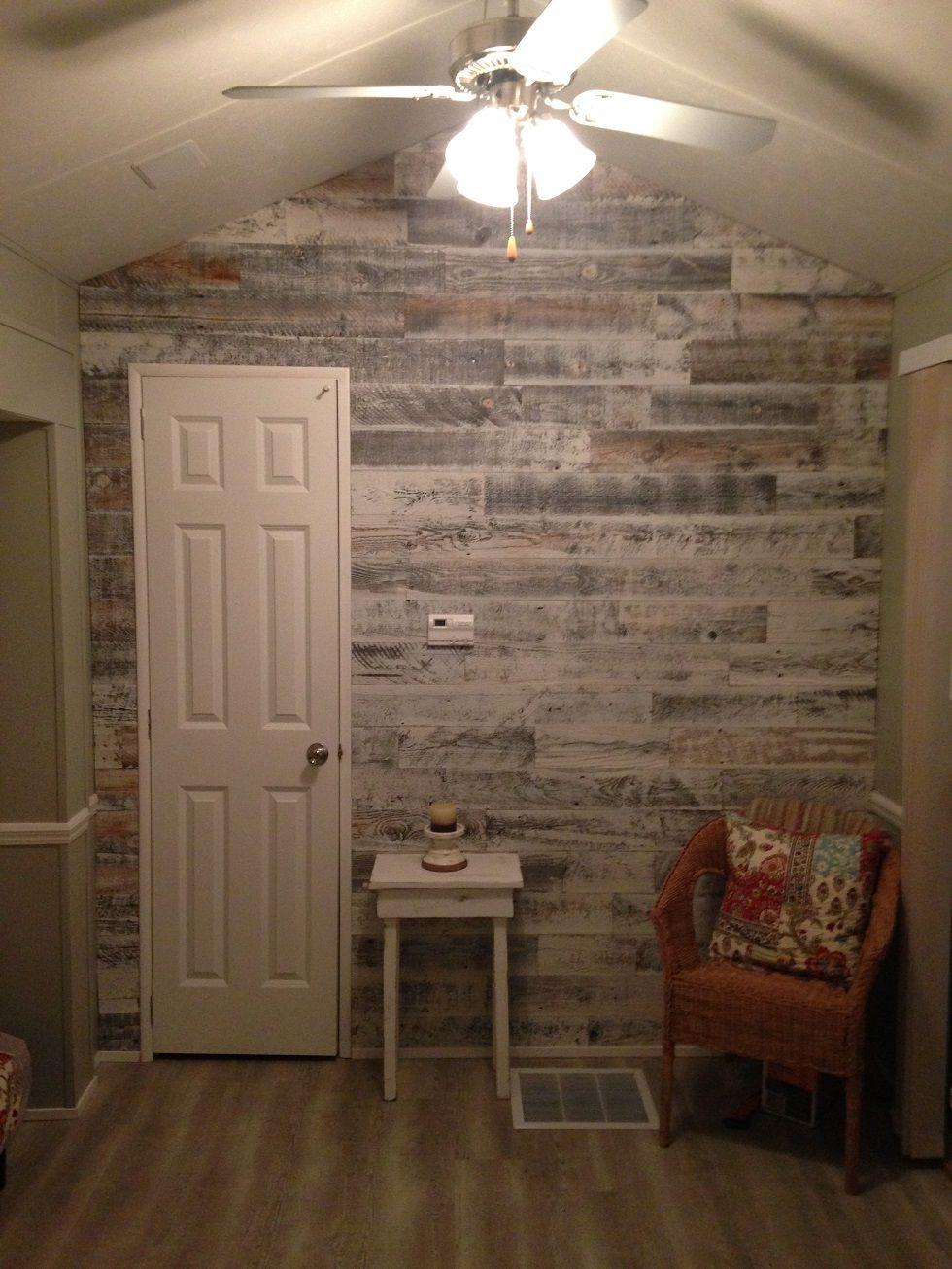 Cottage Renovation in Cultus Lake Flooring on walls