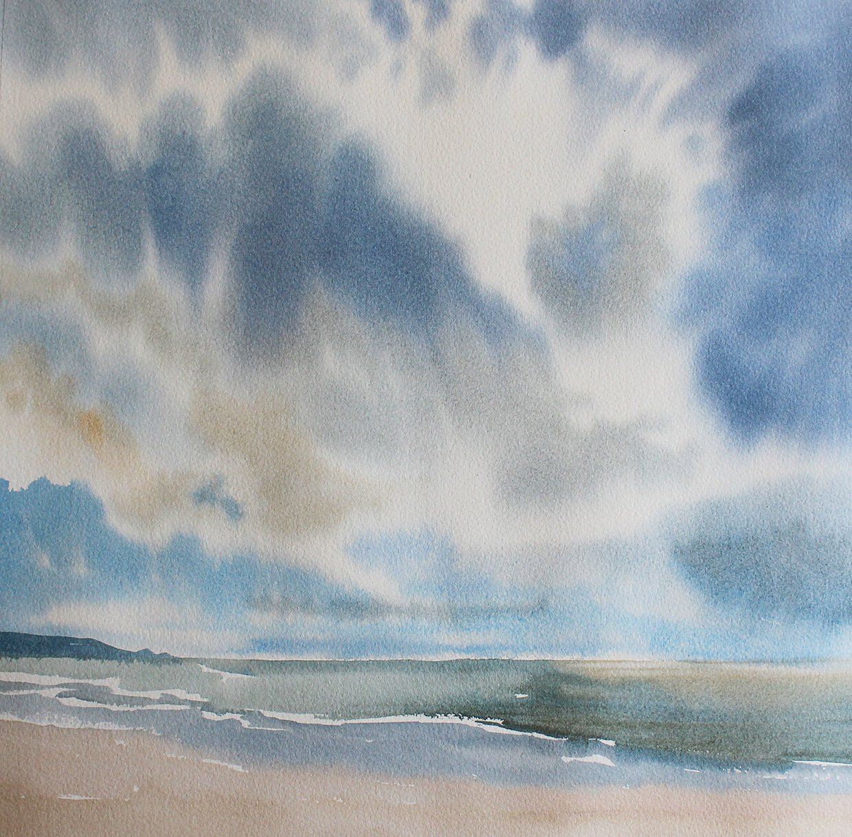 Watercolour Sky Painting Big Sky Sky And Clouds Cloudscape