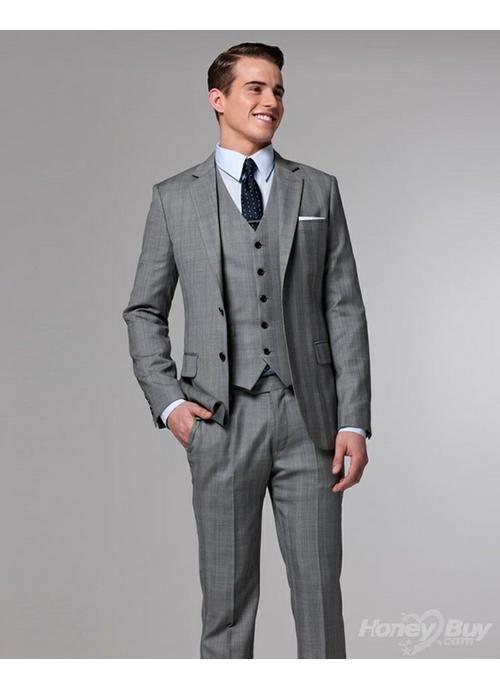 Light grey 3 piece pin strip 1920's style suit | Suits | Pinterest ...