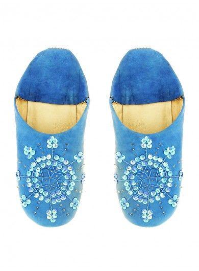 Agadir babouches bleu jean   BOHO Fashion   Lifestyle   Jeans ... 1cb227be077