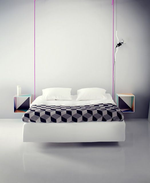 geometric nightstands