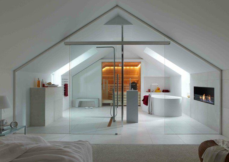Chambre avec salle de bain  fusion d\u0027espaces harmonieuse Saunas