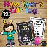 New Years 2019 Student Gift Tag, Kiss 2018 Goodbye Ring in 2019