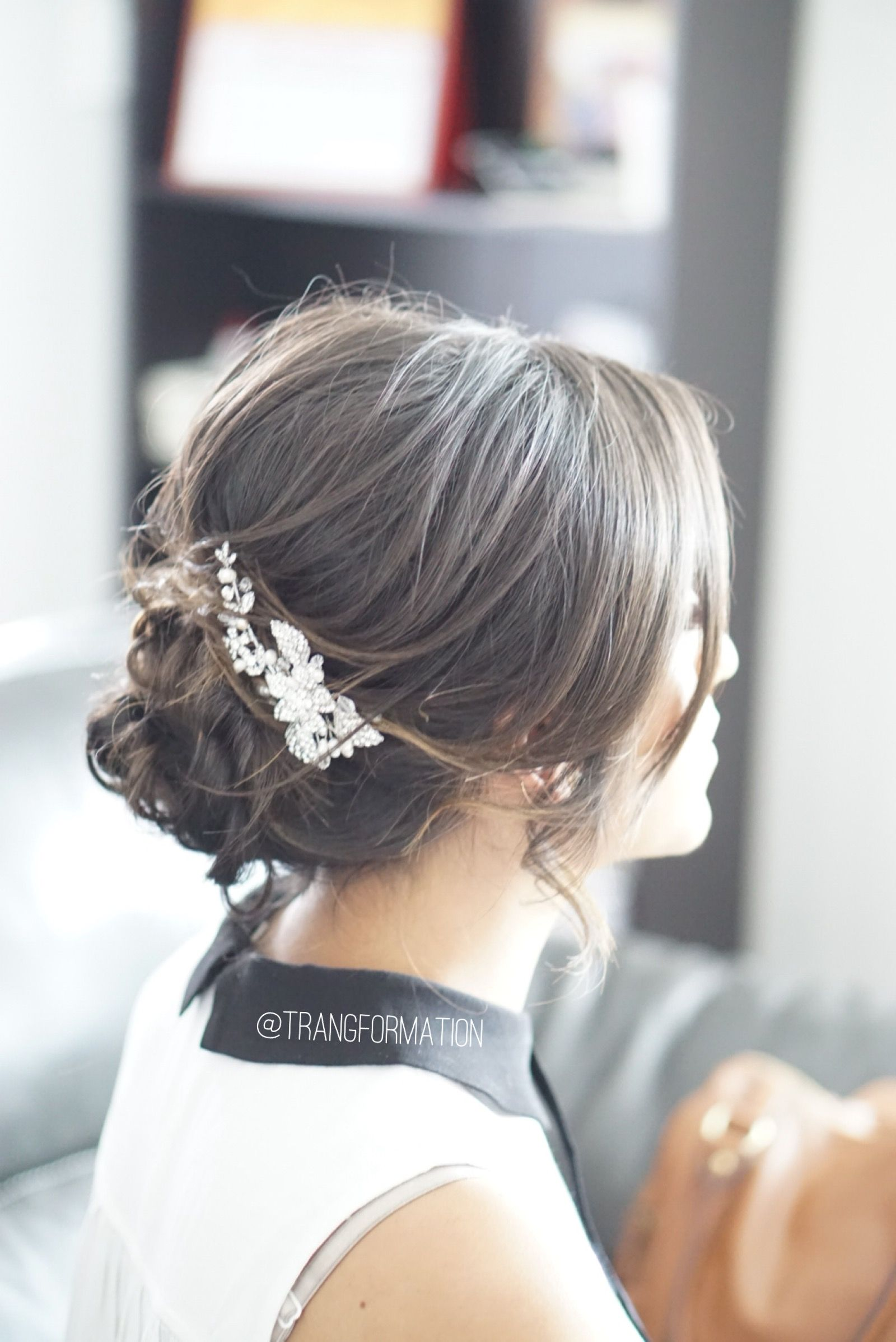 Updo messy updo loose updo wedding hairstyles romantic updo