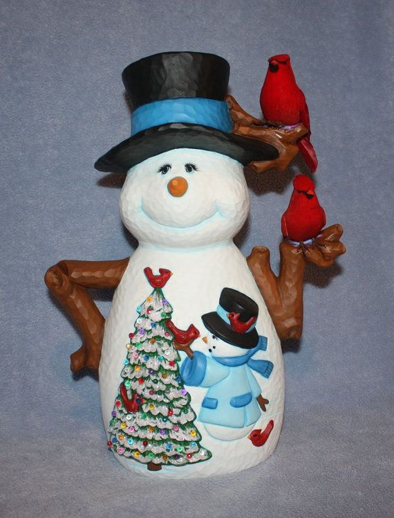 Your Place To Buy And Sell All Things Handmade Hand Painted Ceramics Christmas Clay Snowman