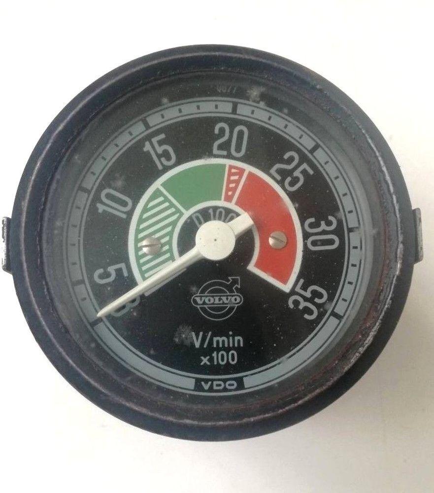 vintage vdo tachometer truck volvo f88 f89 instrument dial rpm meter