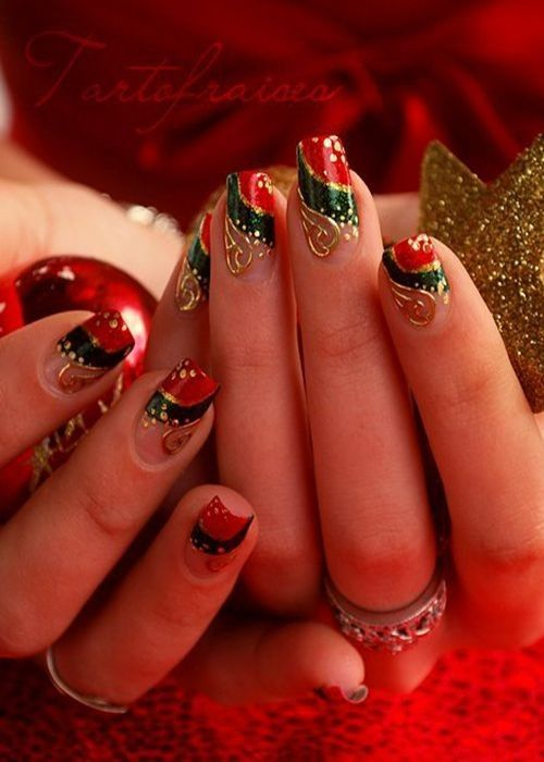 Http Christmas 365greetings Com Wp Content Uploads 2015 10 191 Jpg Christmas Nail Art Designs Fancy Nail Art Christmas Nail Designs