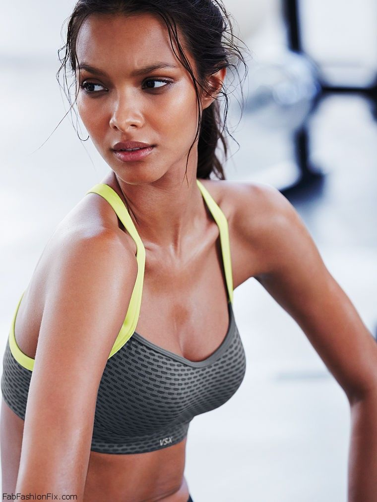 6c69b1970ea39 Lais Ribeiro shows her athletic physique for Victoria s Secret VSX ...