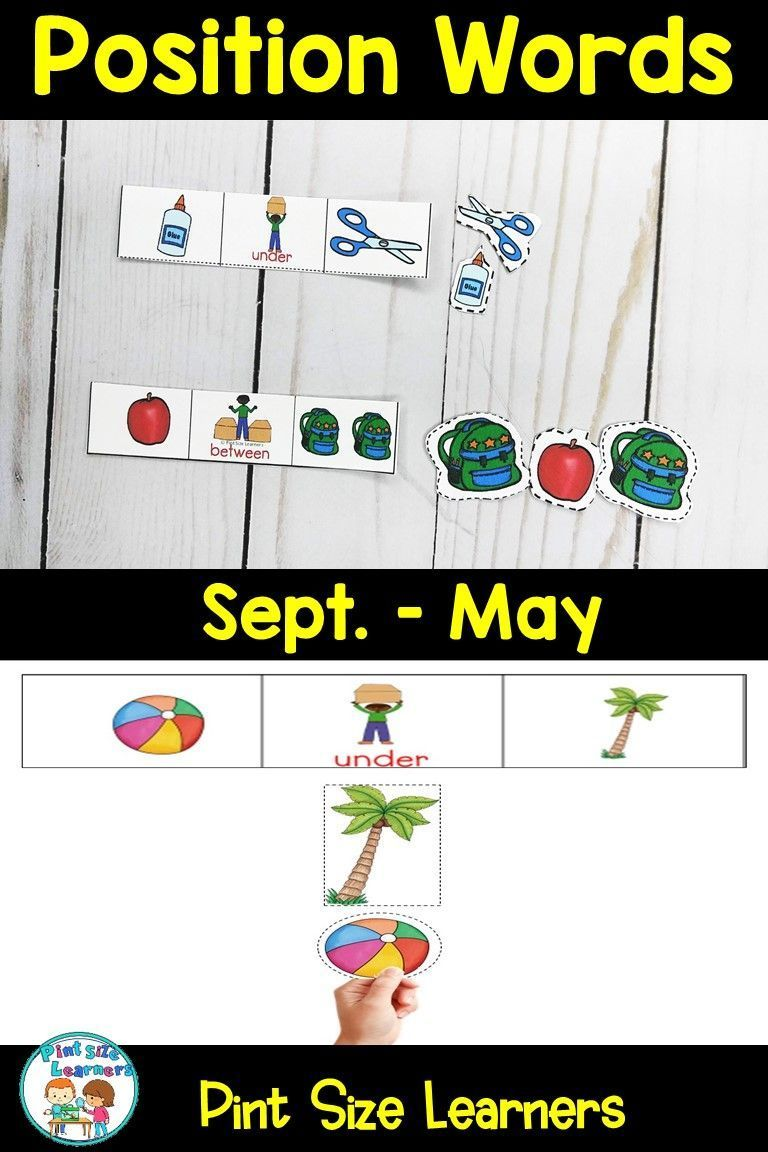 Positional Words Position Words Centers Worksheets September To May In 2021 Position Words Positivity Fun Learning [ 1152 x 768 Pixel ]
