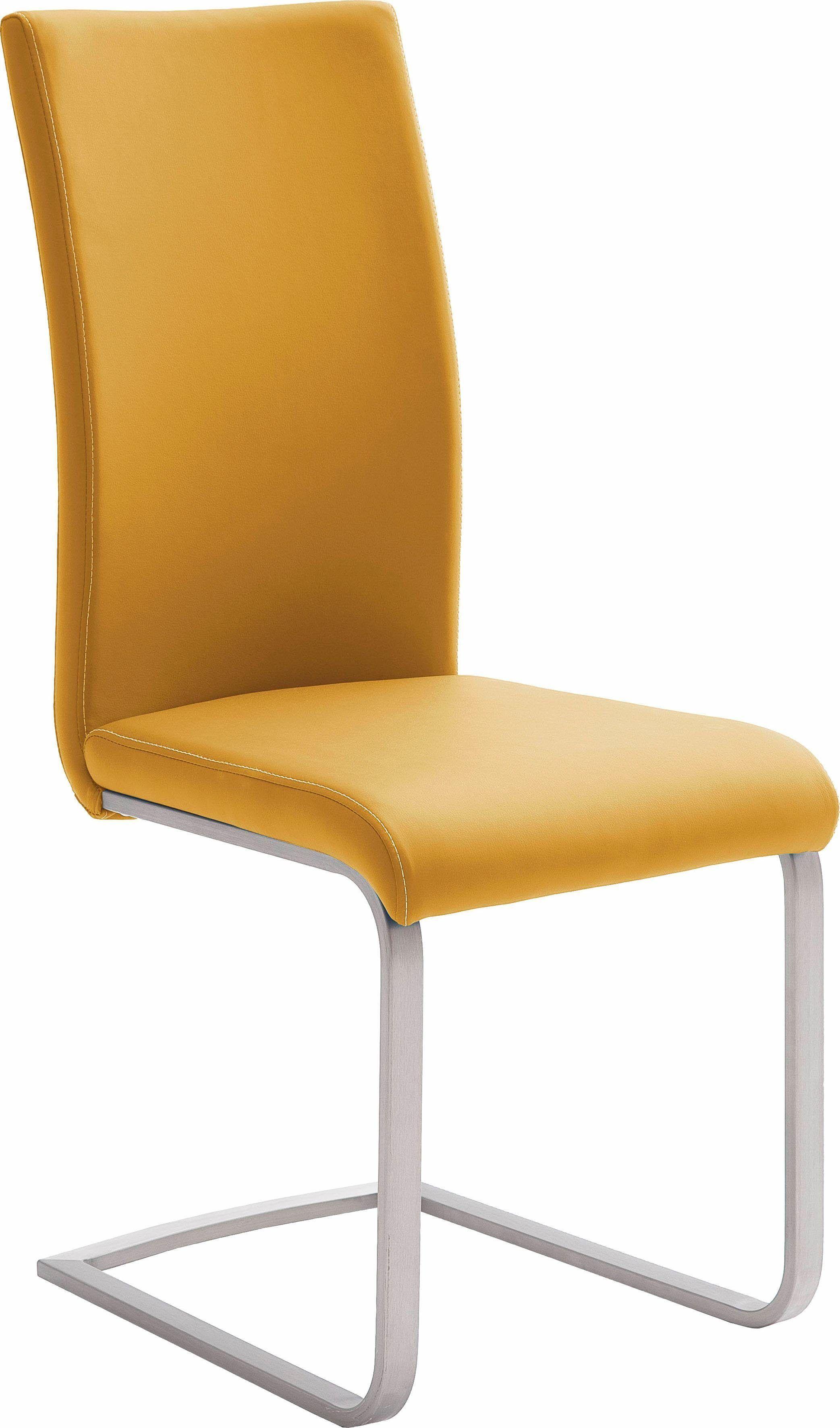 Stuhl gelb pflegeleichtes Kunstleder yourhome Jetzt bestellen unter