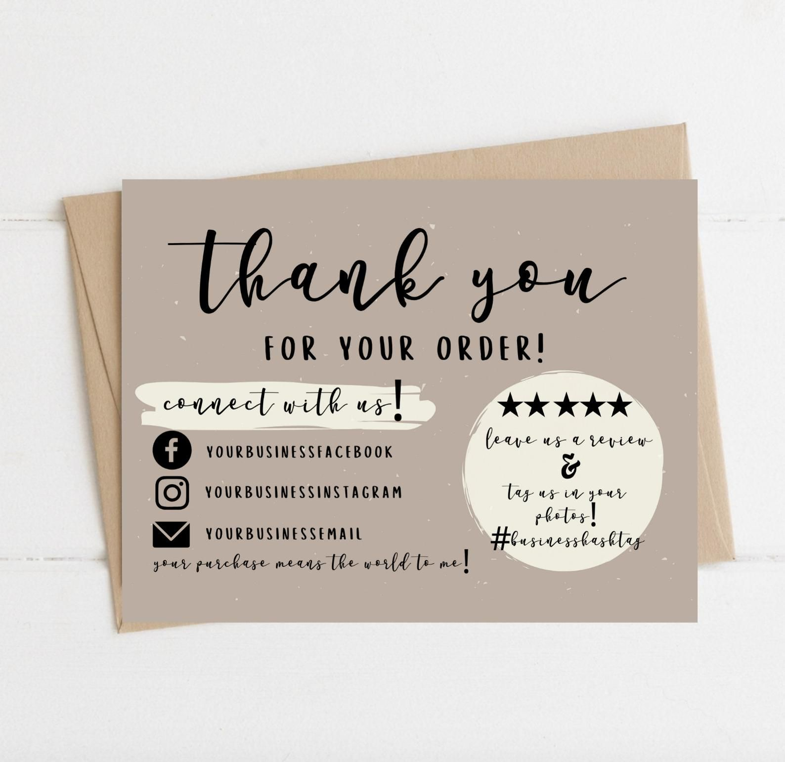 Instant Download Thank You Card Editable And Printable Thank You Cards Thank You Card For Business Simple Thank You Business Cards Small Business Cards Printable Thank You Cards Packaging Ideas Business