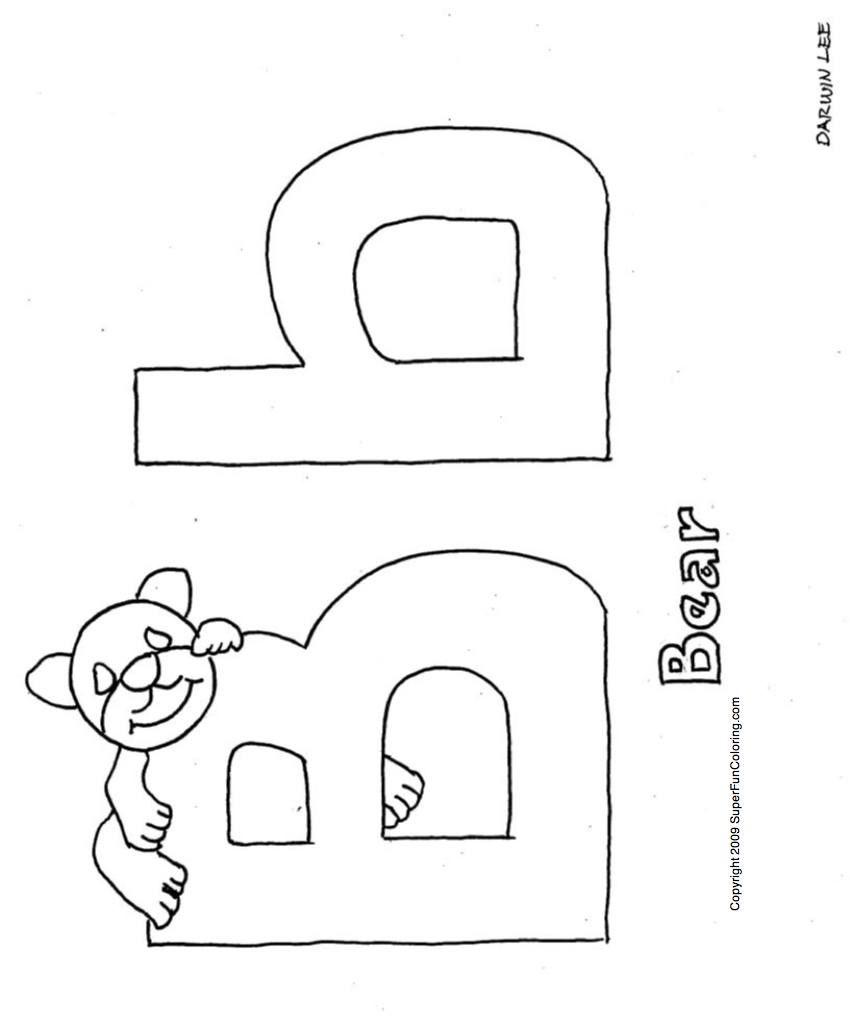 Bubba Bear Alphabet Coloring Pages Preschool Coloring Pages Alphabet Coloring