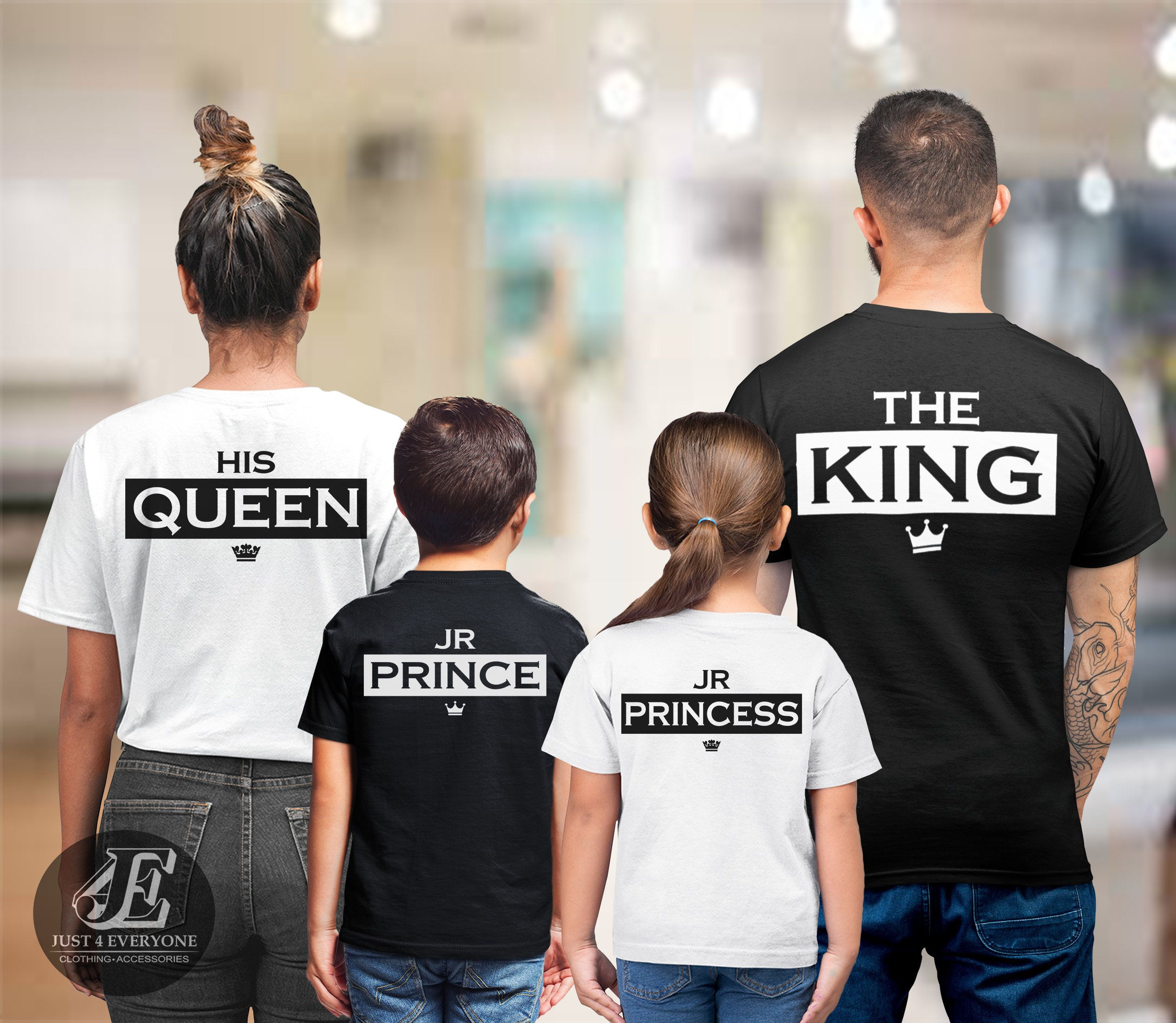 King Queen Shirts Prince Princess Couples outfit Family matching Tshirts
