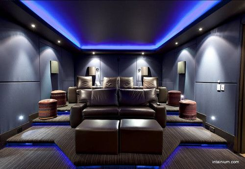 Home theater room paint color design pictures remodel Home theater colors