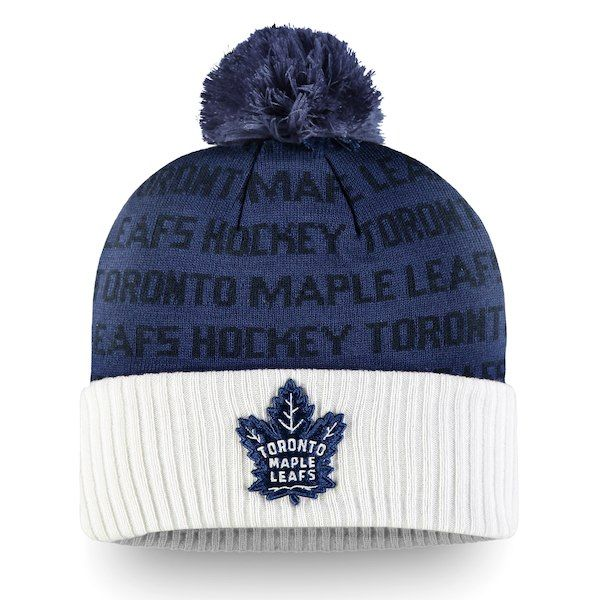 8036bdd3329c2 Men s Toronto Maple Leafs Fanatics Branded White Authentic Pro Rinkside -  Cuffed Knit Hat with