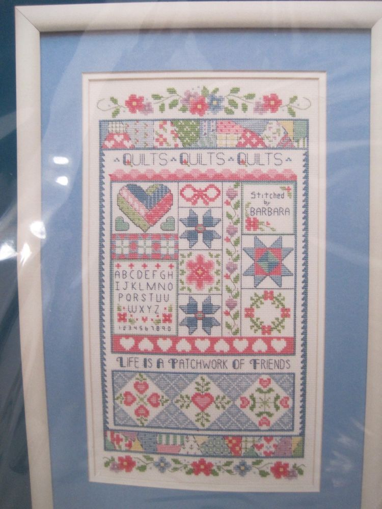 """Sunset Life Is A Patchwork Counted Cross Stitch Kit Quilt Design 9"""" X 16"""" 1992 #sunset"""