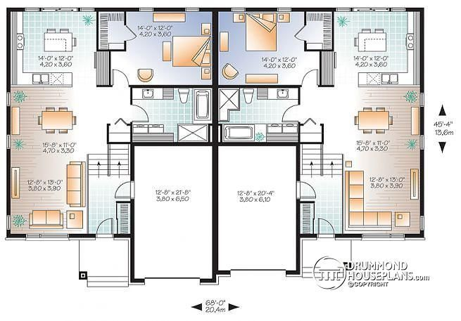 1st level Contemporary semi detached with 2 garages and 4 ...
