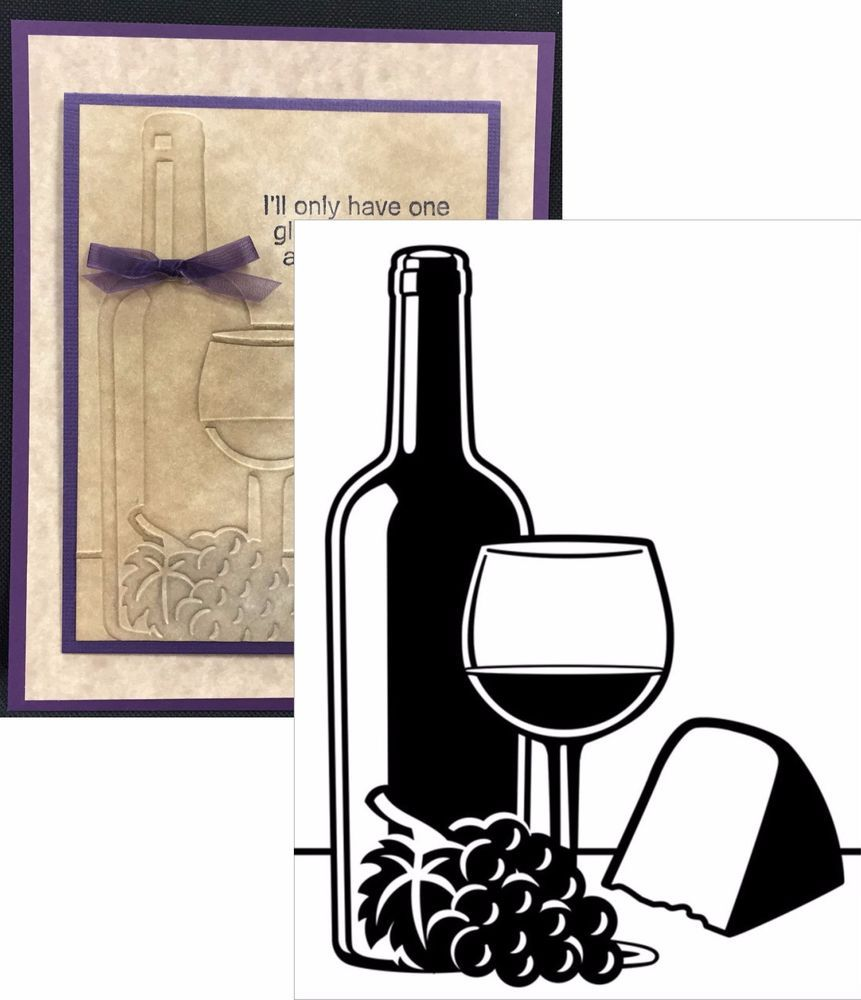 Wine Cheese Darice Embossing Folders Food Drink 1219 217 Cuttlebug
