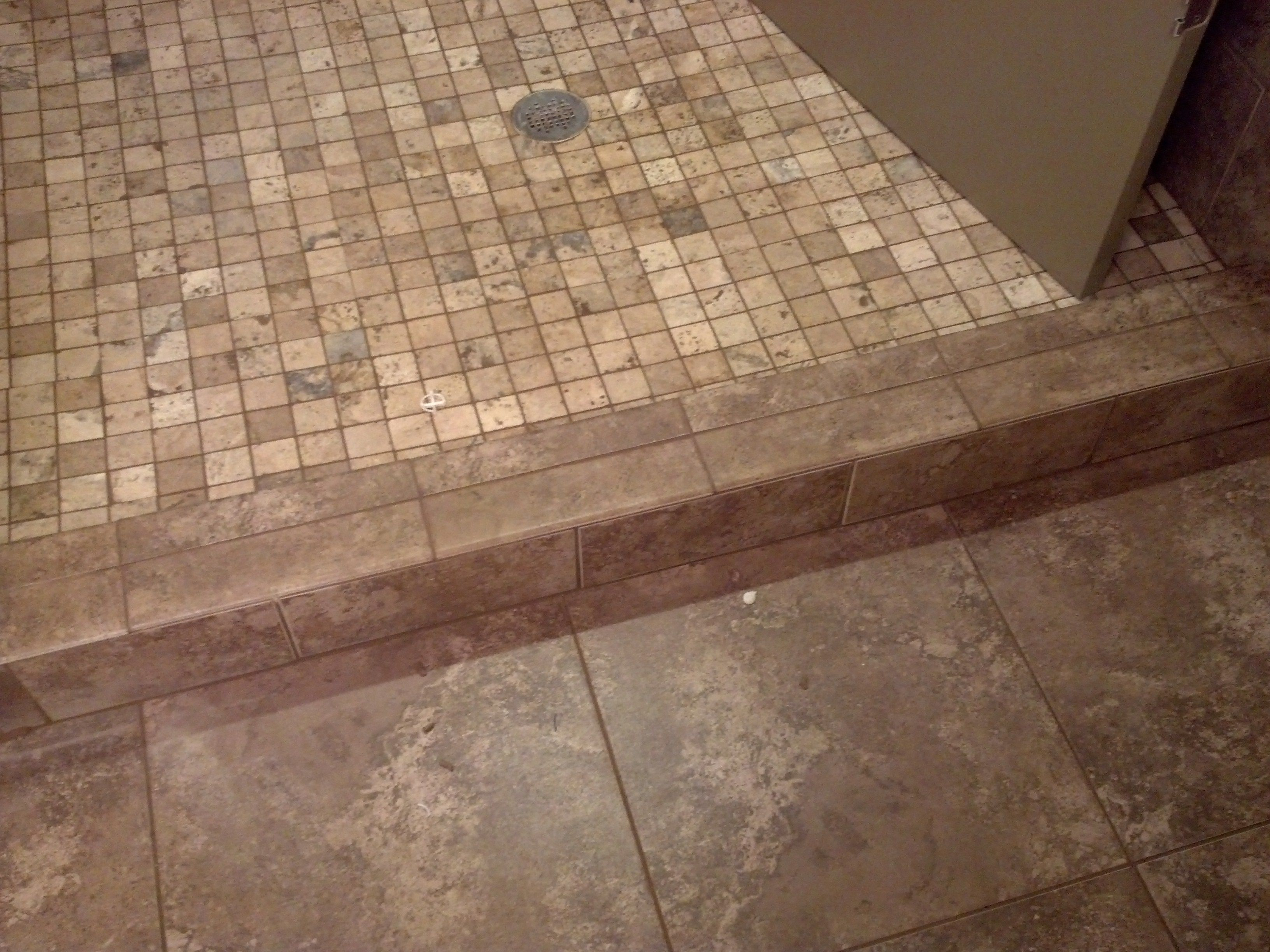 Shower Curb Tile Ideas | Tile bathroom, Tile installation