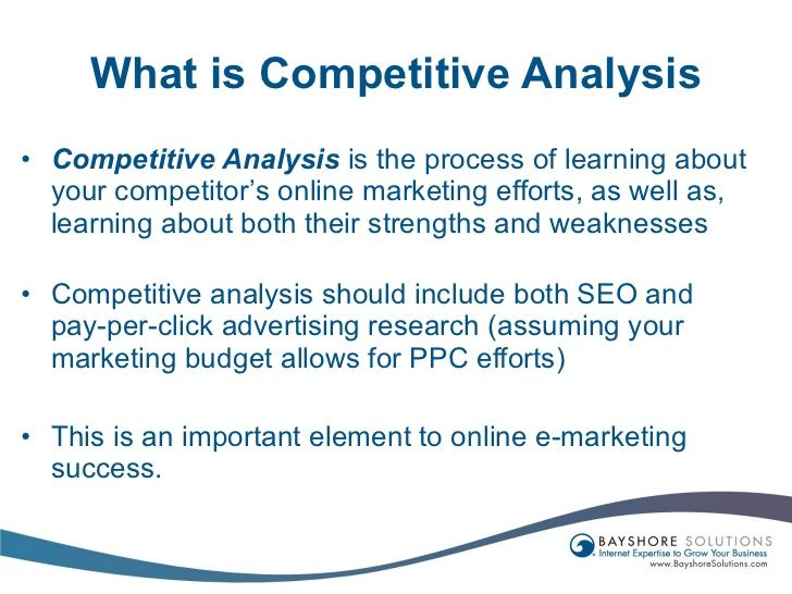 competitor analysis - Google Search competitor analysis