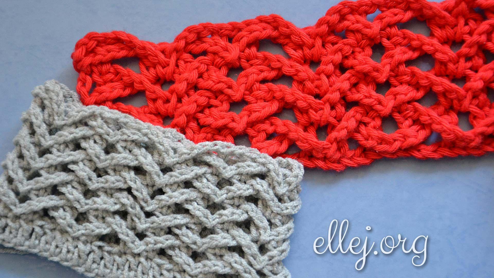 Magnífico Crochet Acanalado Patrón Carenado Adorno - Manta de Tejer ...