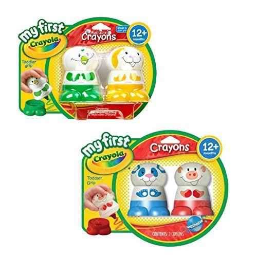 Toddler Toys Crayola Washable Crayons for Toddlers - My First Crayola Crayons Pack of 4 Characters