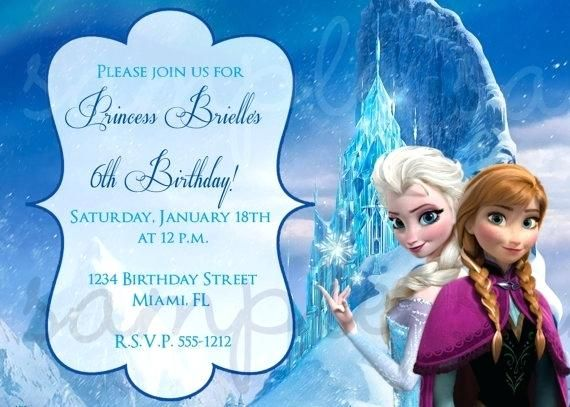 Frozen Birthday Invitation Wording Great Frozen Birthday Invitation