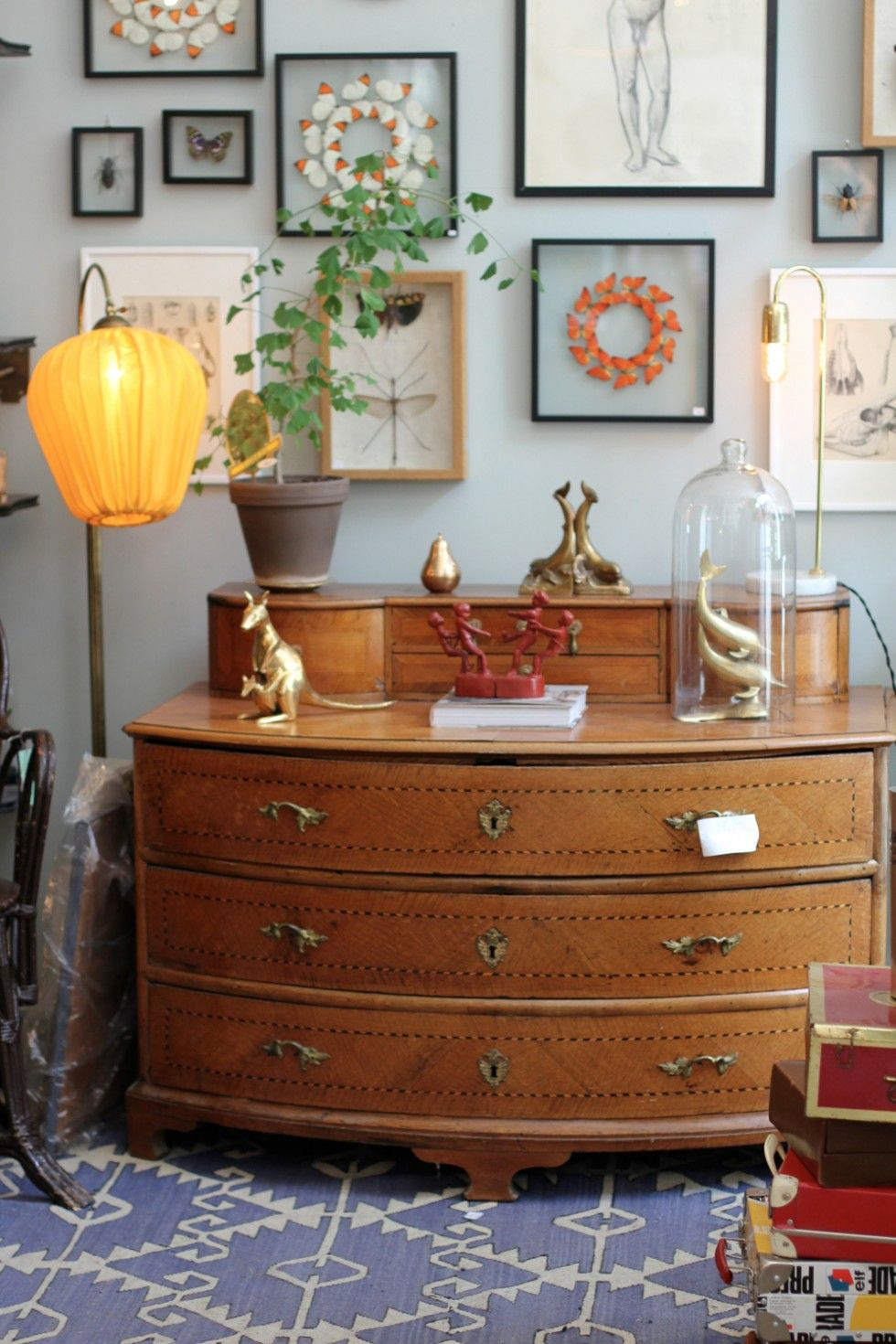 Pin by A Sandin on Living Room | Dresser as nightstand ...