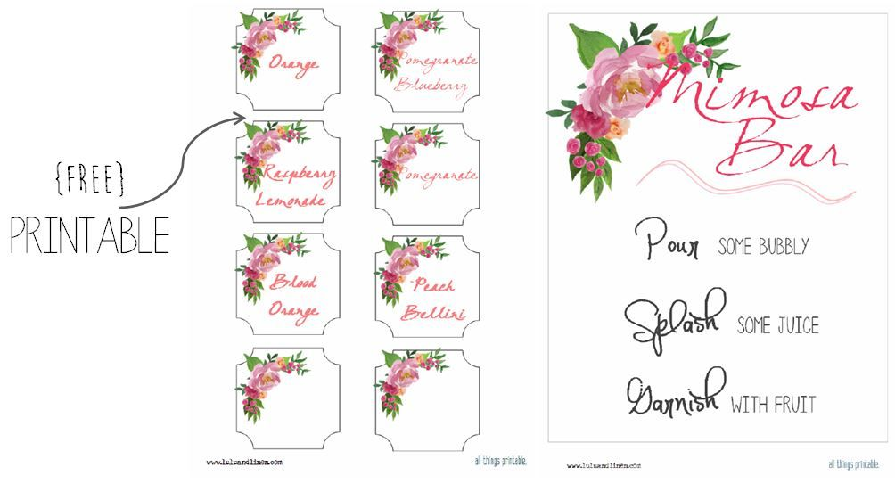 picture about Free Printable Mimosa Bar Sign named How towards toss a bridal shower upon a spending plan Bridal shower