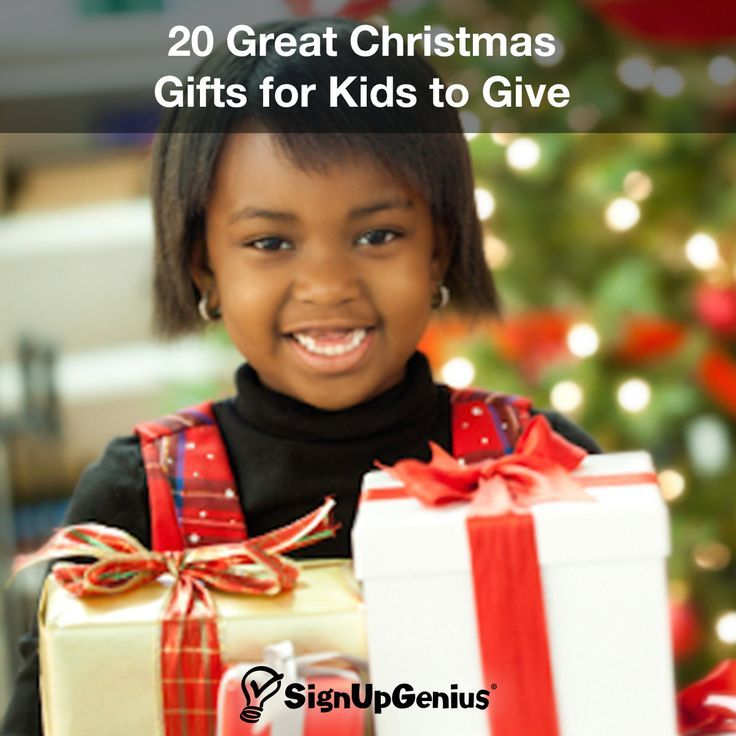 20 Great Christmas Gifts for Kids to Give 20 Great Christmas Gifts for Kids to Give. Help your children be generous and creative.