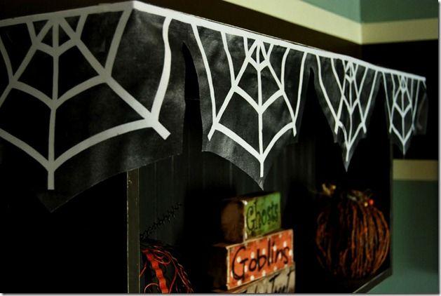 spider web garland.