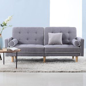 Mid Century Modern Convertible Sofa by Madison Home USA Top ...