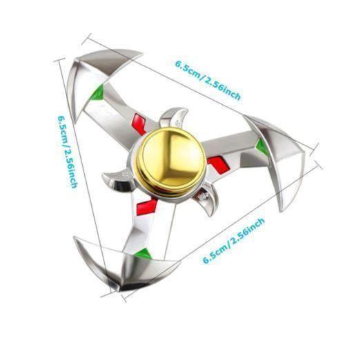 Hand Spinner Tri Fid EDC Genji Alloy Rotate Model Ninja Toys