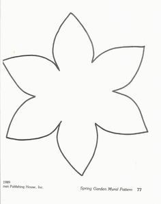Printable Flower Template Could Be Used To Craft Daffodils Stdavidsday Flower Template Flower Crafts Flower Templates Printable