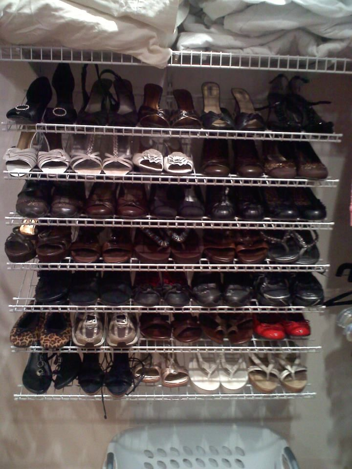 Have A Large Shoe Collection Try ClosetMaids Wire Shelving As Storage Solution